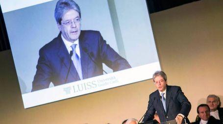 Paolo Gentiloni all'inaugurazione dell'anno accademico alla Luiss (ImagoE)