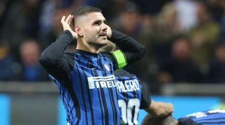 Inter-Roma, big match della 21esima giornata. Nella foto Icardi (foto Newpress)