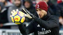 Cagliari-Milan, il portiere rossonero Gianluigi Donnarumma (foto Lapresse)