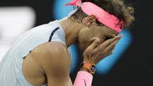Nadal, infortunio e ritiro agli Australian Open 2018 (Ansa)