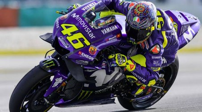 Valentino Rossi impegnato nei test sul circuito di Buriram