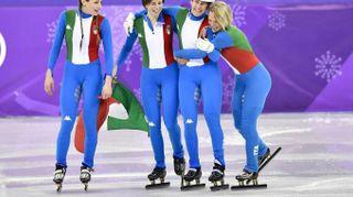 Olimpiadi invernali 2018, argento Italia nello short track. Le foto dell'impresa