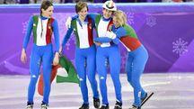 Olimpiadi invernali, staffetta donne d'argento (LaPresse)