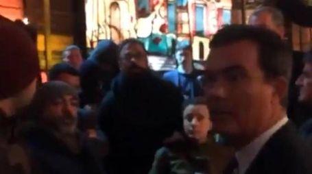 Blitz di un gruppo di attivisti di Forza Nuova negli studi tv di La7 (Ansa)