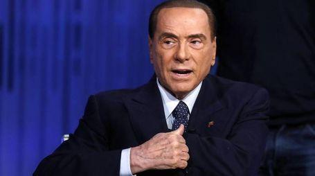 Silvio Berlusconi a Otto e mezzo (Ansa)
