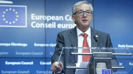 Il presidente della Commissione Ue Jean-Claude Juncker (foto Newpress)