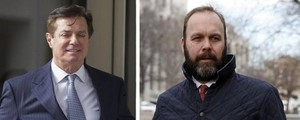 Paul Manafort e Rick Gates (Ansa)