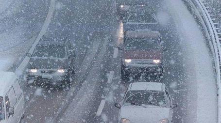 Previsioni meteo, Buran e neve. Autostrade, ecco le zone a rischio (foto Ansa)