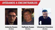 I tre italiani scomparsi in Messico (Ansa)