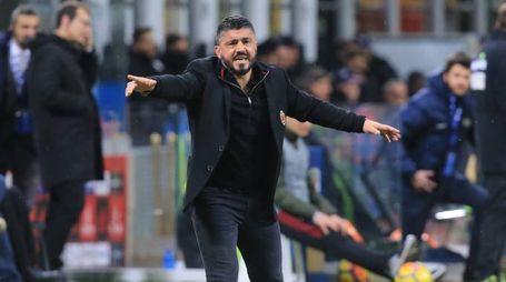 Serie A, l'allenatore del Milan Gennaro Gattuso (Newpress)