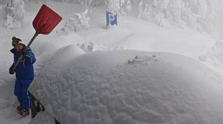 Neve sull'Appennino tosco-romagnolo (Ansa)