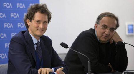 John Elkann e Sergio Marchionne (Ansa)