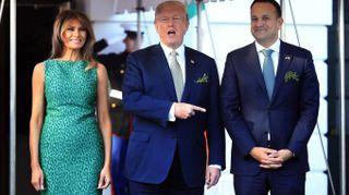 Melania Trump, il look di San Patrizio? E' verde-maculato