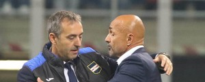 Giampaolo e Spalletti all'andata (Newpress)