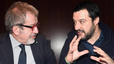 Roberto Maroni e Matteo Salvini (Ansa)