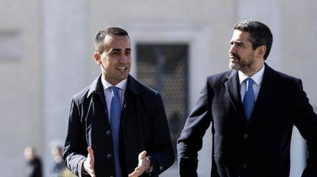 I pentastellati Luigi Di Maio e Riccardo Fraccaro (Ansa)