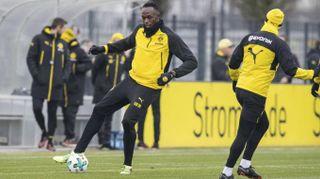 Usain Bolt, show in allenamento