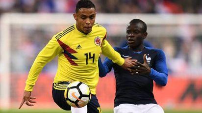Luis Muriel in gol contro la Francia (Lapresse)
