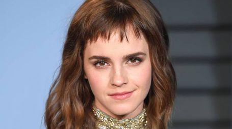La frangia di Emma Watson (Foto: PA Wire/LaPresse)