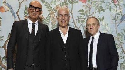 Marco Bizzarri, Massimo Rigucci e François-Henri Pinault