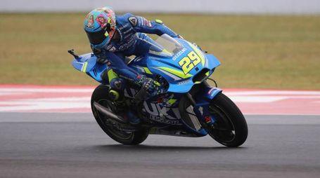 Andrea Iannone in pista (Ansa)
