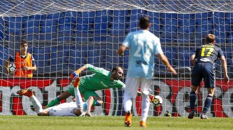 Lazio-Sampdoria, il gol di Milinkovic Savic (Ansa)