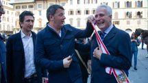 Matteo Renzi in piazza a Firenze (ImagoE)