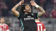 Marcelo esulta dopo il gol (Ansa)