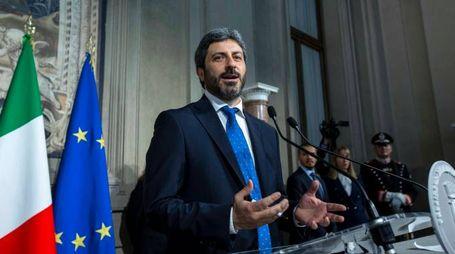 Roberto Fico al termine del colloquio con Mattarella (ImagoE)