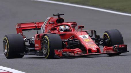 F1 Gp Spagna 2018, riflettori su Sebastian Vettel (Ansa)