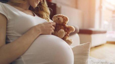 Una donna in gravidanza