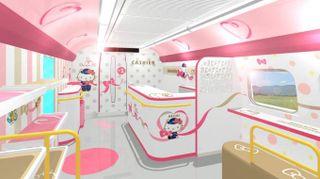 Ecco il treno di Hello Kitty
