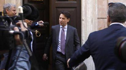 Il premier incaricato Giuseppe Conte (Ansa)