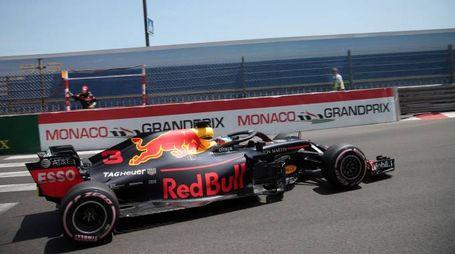 Ricciardo durante le qualifiche del Gp di Monaco (Lapresse)