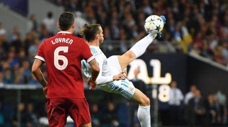 Rovesciata di Bale: gol (Ansa)