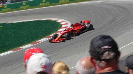 Vettel in curva (lapresse)