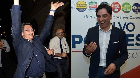 Emilio Del Bono (sindaco di Brescia) e Salvo Pogliese (sindaco di Catania)