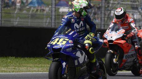 Motogp, in pista Valentino Rossi e Jorge Lorenzo (Lapresse)
