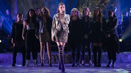 Una scena di 'Pitch Perfect 3'