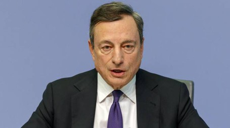 Mario Draghi, presidente della Bce (Ansa)