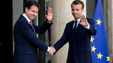 L'incontro Conte-Macron all'Eliseo (Lapresse)