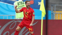 Belgio-Panama, l'esultanza di Mertens (Ansa)