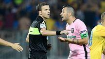 Momenti di tensione durante Frosinone-Palermo