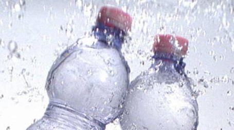 Bottigliette di acqua San Benedetto (Ansa)