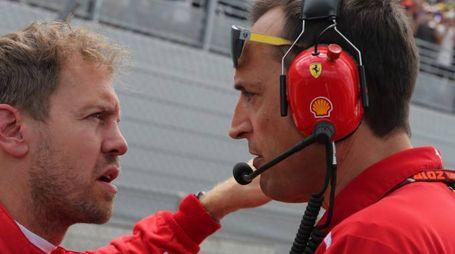 Sebastian Vettel durante il Gp di Francia (LaPresse)