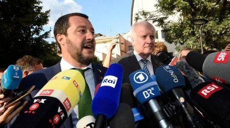 Matteo Salvini e Horst Seehofer (Lapresse)