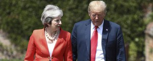 Theresa May e Donald Trump (Ansa)