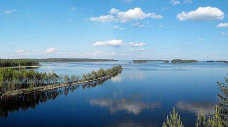 Il lago Saimaa in Finlandia
