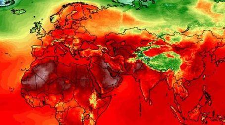 Meteo, la mappa del caldo. Focus sull'Europa, da https://climatereanalyzer.org