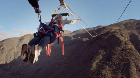 La catapulta umana più grande del mondo - Foto: YouTube/AJ Hackett Bungy NZ